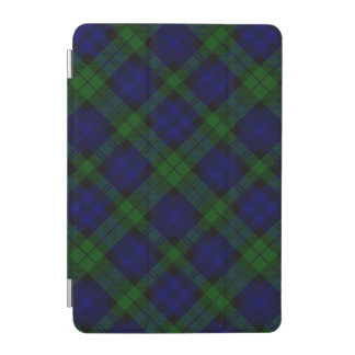 Black Watch clan tartan blue green plaid iPad Mini Cover