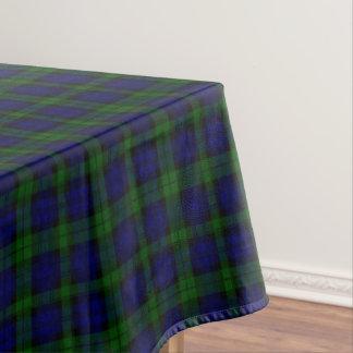 Black Watch clan tartan blue green plaid Tablecloth