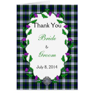 Black Watch Fashion Celtic Wedding Thank You Card
