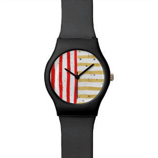 Black Watch Gold Red Stripe Face