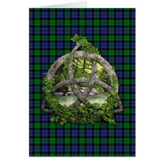 Black Watch Military Celtic Trinity Knot Greeting Card