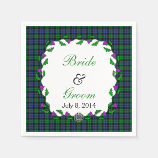 Black Watch Military Celtic Wedding Favor Disposable Napkins
