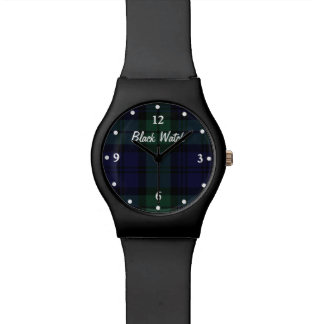 Black Watch Plaid Custom Wrist Watch