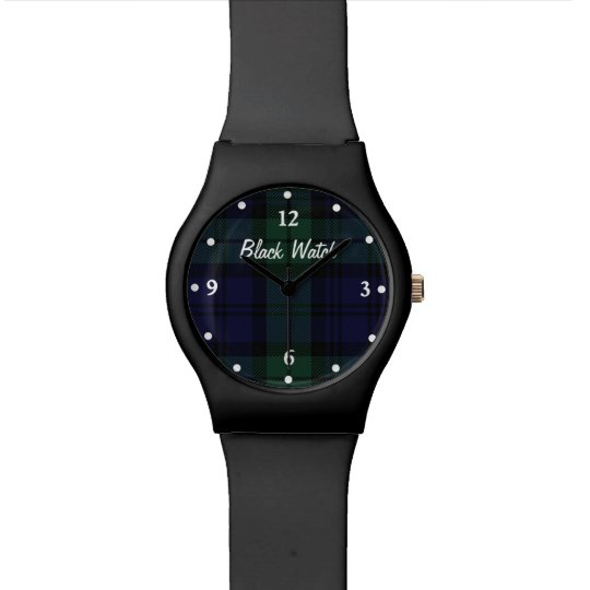 Black Watch Plaid Custom Wrist Watch