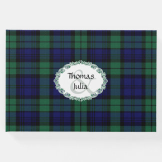 Black Watch Plaid Wedding Guest Book