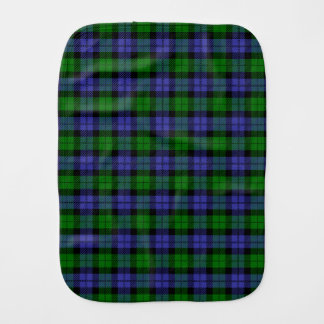 Black watch tartan burp cloth