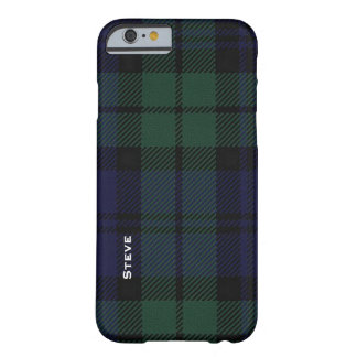 Black Watch Tartan Plaid iPhone 6 Case