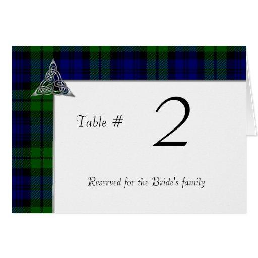 Black Watch Tartan Plaid Wedding Greeting Card