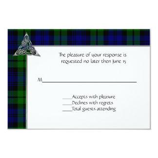 Black Watch Tartan Plaid Wedding Card