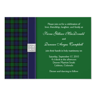 Black Watch Tartan Wedding Invitation