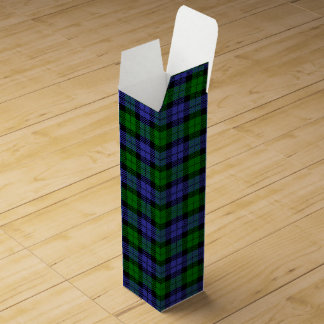 Black watch tartan wine box