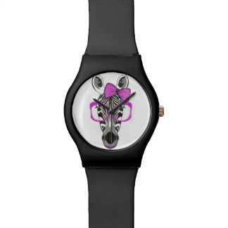 Black watch with pink zebra