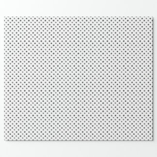 Black Watercolor Dots Wrapping Paper