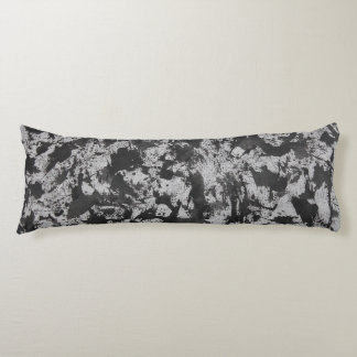 Black Watercolor on White Body Pillow