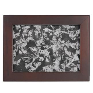 Black Watercolor on White Keepsake Box