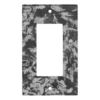 Black Watercolor on White Light Switch Cover