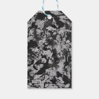 Black Watercolor on White Pack Of Gift Tags