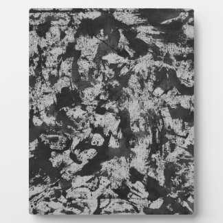 Black Watercolor on White Plaque
