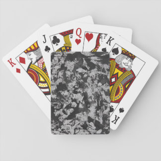 Black Watercolor on White Poker Deck