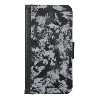 Black Watercolor on White Samsung Galaxy S6 Wallet Case