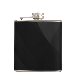 Black Wave Abstract Hip Flask