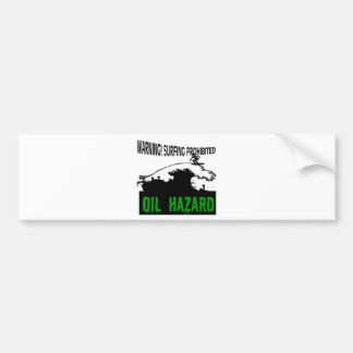 Black Waves Bumper Sticker