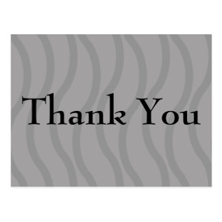 Black Wavy Lines Thank You Cards Postcard