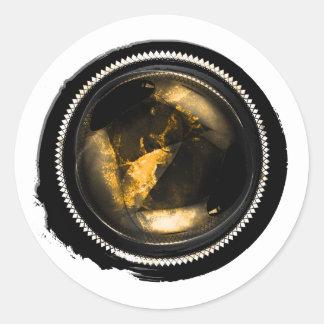 Black Wax Mystic Gold Topaz Opal Crest Seal Round Sticker