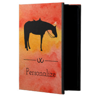 Black Western Horse Silhouette on Watercolor Powis iPad Air 2 Case