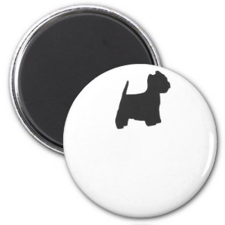 Black Westie Silhouette Magnet