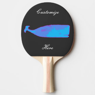black whale blue Thunder_Cove Ping-Pong Paddle