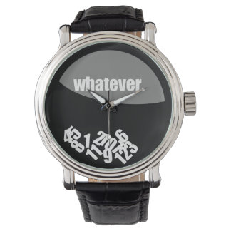 Black Whatever Messy Numbers Watch