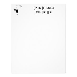Black Whimsy Kitty 5 Personalized Letterhead