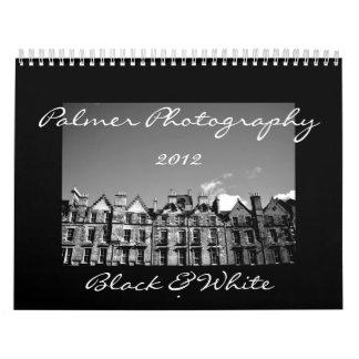 Black & White 2012 Calendar
