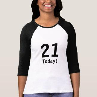 Black & White 21st Birthday T-Shirt