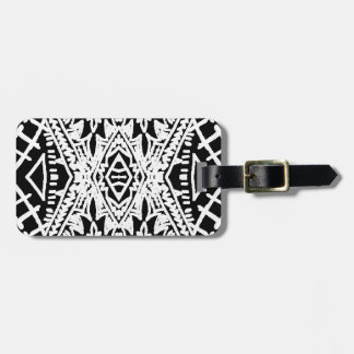 Black/White Abstract #1 Luggage Tag