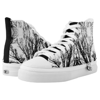 Black/White Abstract #4 High Tops
