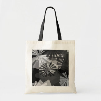 Black&White Abstract Budget Tote Bag