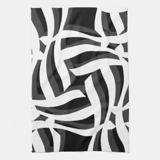 Black White Abstract Kitchen Towel