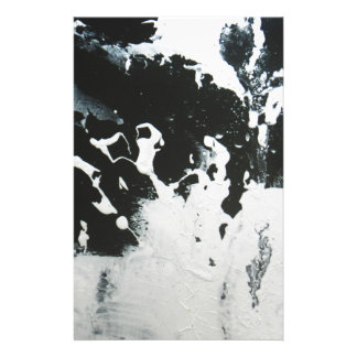 Black & White Abstract Marble Design Illustration Stationery