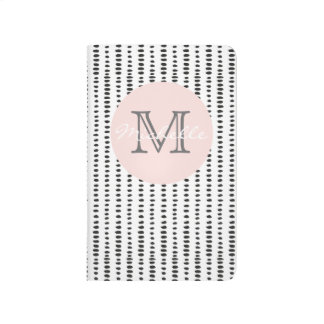 Black & White Abstract Monogram Pocket journal