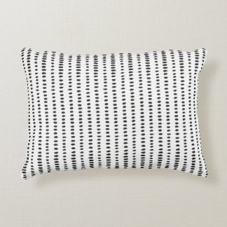 Black & White Abstract Pattern Accent Pillow