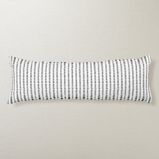 Black & White Abstract Pattern Body Pillow