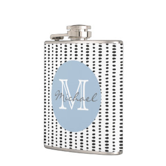 Black & White Abstract Pattern Flask