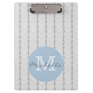 Black & White Abstract Retro Pattern Clipboard