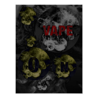 Black&White Abstract Vape Clouds Poster