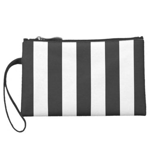 Black & White Accessory Clutch or Makeup Bag Wristlet Purse