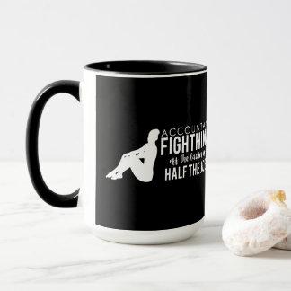 Black White Accountant Fighting Off the Ladies Mug