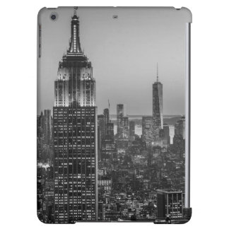 Black & White Aerial View of New York City Night iPad Air Covers