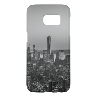 Black & White Aerial View of New York City Night Samsung Galaxy S7 Case